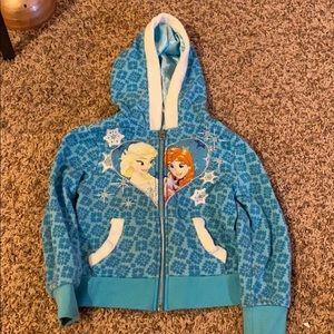 Frozen zip-up hoodie